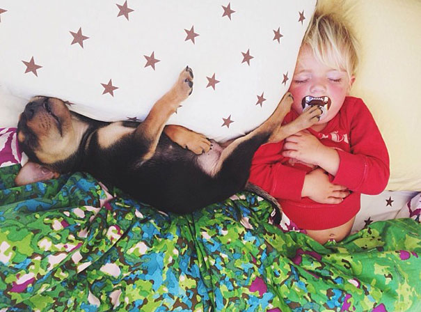 lovely-funny-cute-pictures-toddler-sleeping-with-puppy-dog (6)