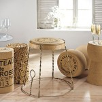 """Wine related"" furniture design – Unique champagne cork furniture"