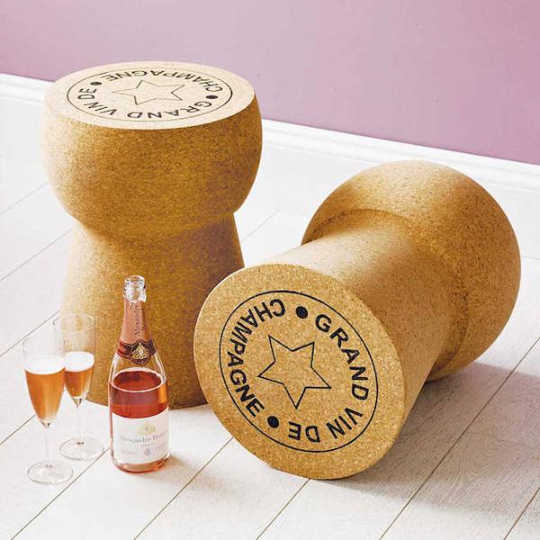 """wine related"""" furniture design – unique champagne cork furniture"""