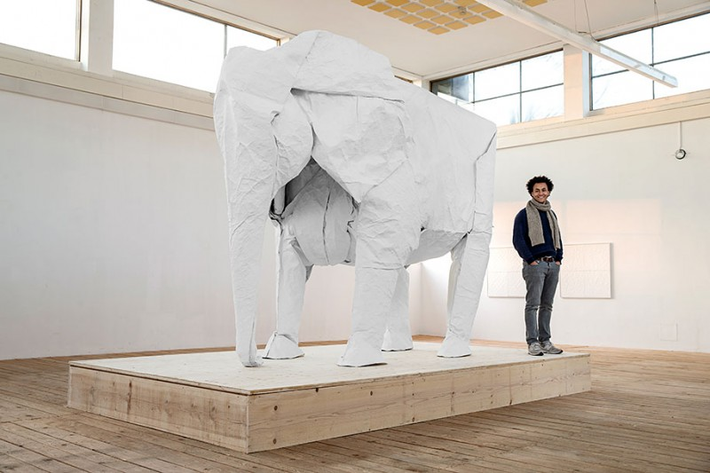 large-life-sized-elephant-origami-paper-folding-sculpture (1)