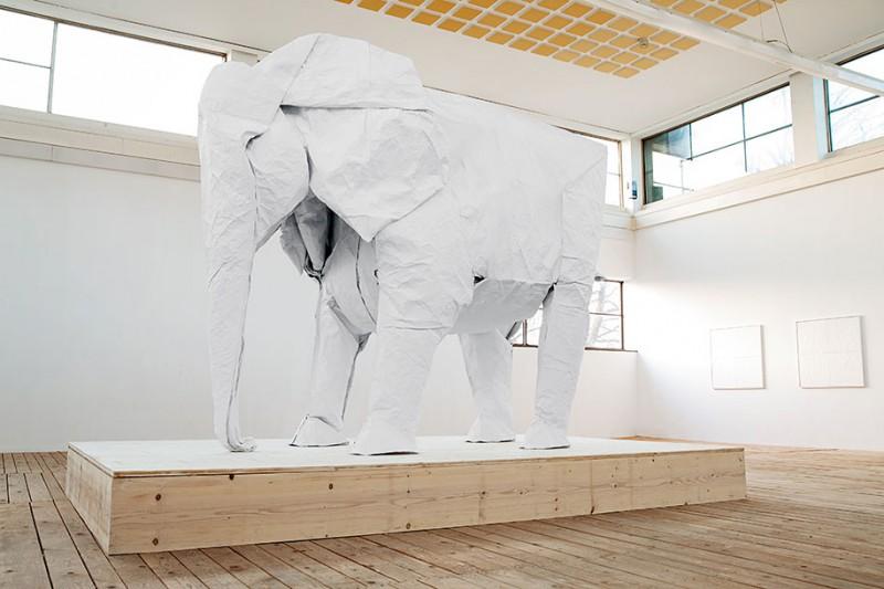 large-life-sized-elephant-origami-paper-folding-sculpture