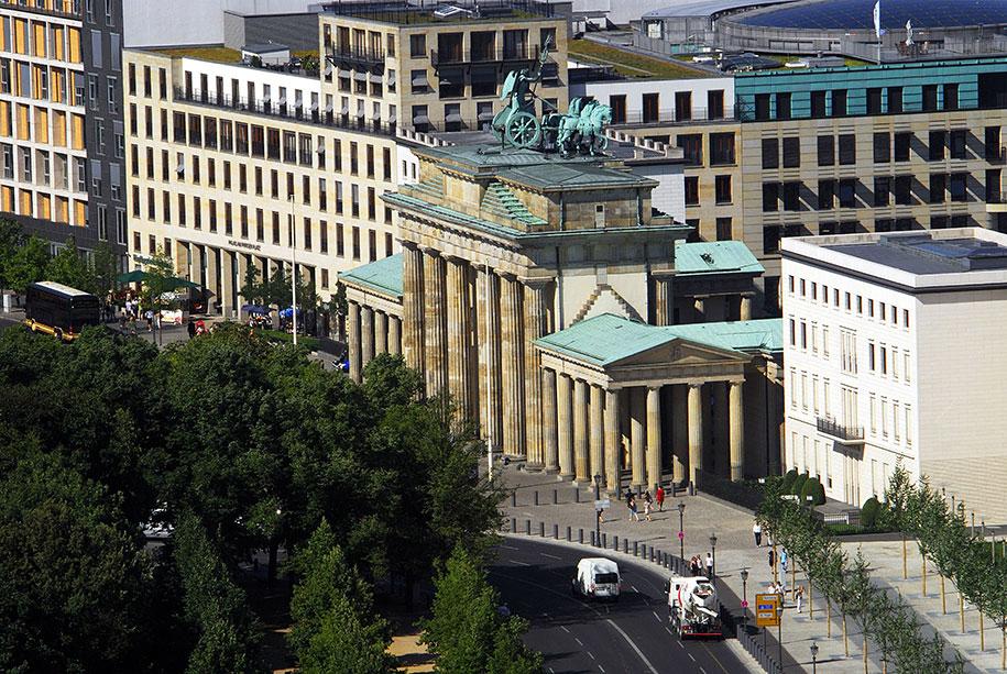 porta di brandeburgo vista aerea