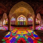Brilliant Nasir al-Mulk Mosque looks like a Kaleidoscope when it catches the early morning sun