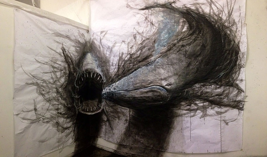 Awesome Drawings Of Animals Eye popping Dark Three dimensional Life