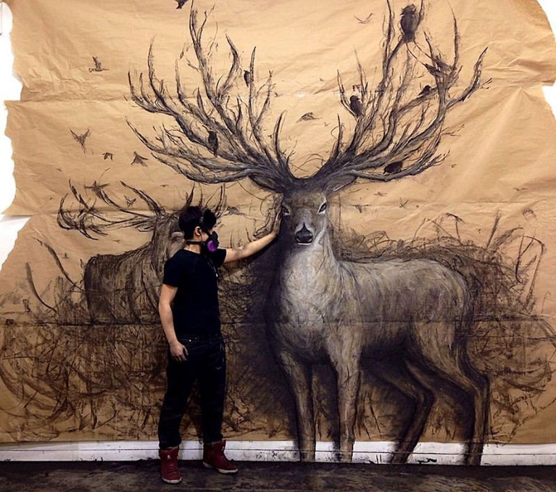 awesome-impressive-3D-drawings-life-sized-animals-artwork (4)