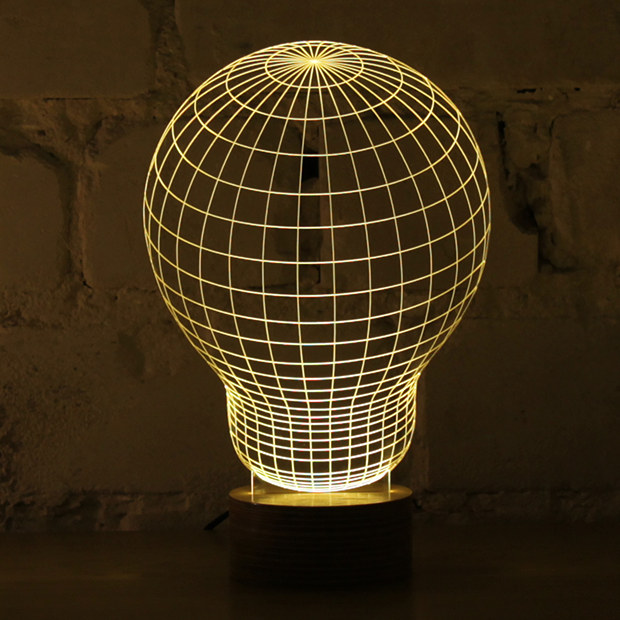 2d Led Lamp With 3d Visual Effect That Tricks Your Eye And