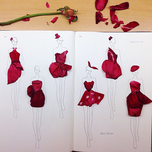 creative-beautiful-real-flower-petals-fashion-illustrations-clothing-sketches-design-inspiration (10)