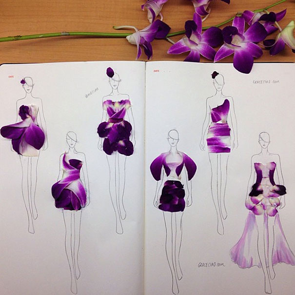 creative-beautiful-real-flower-petals-fashion-illustrations-clothing-sketches-design-inspiration (12)