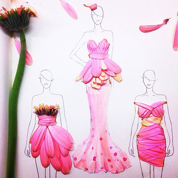 Designing Dresses With Real Flower Petals Vuing Com
