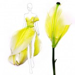 Designing dresses with real flower petals