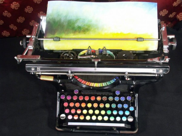 creative-design-beautiful-modified-chromatic-Typewriter