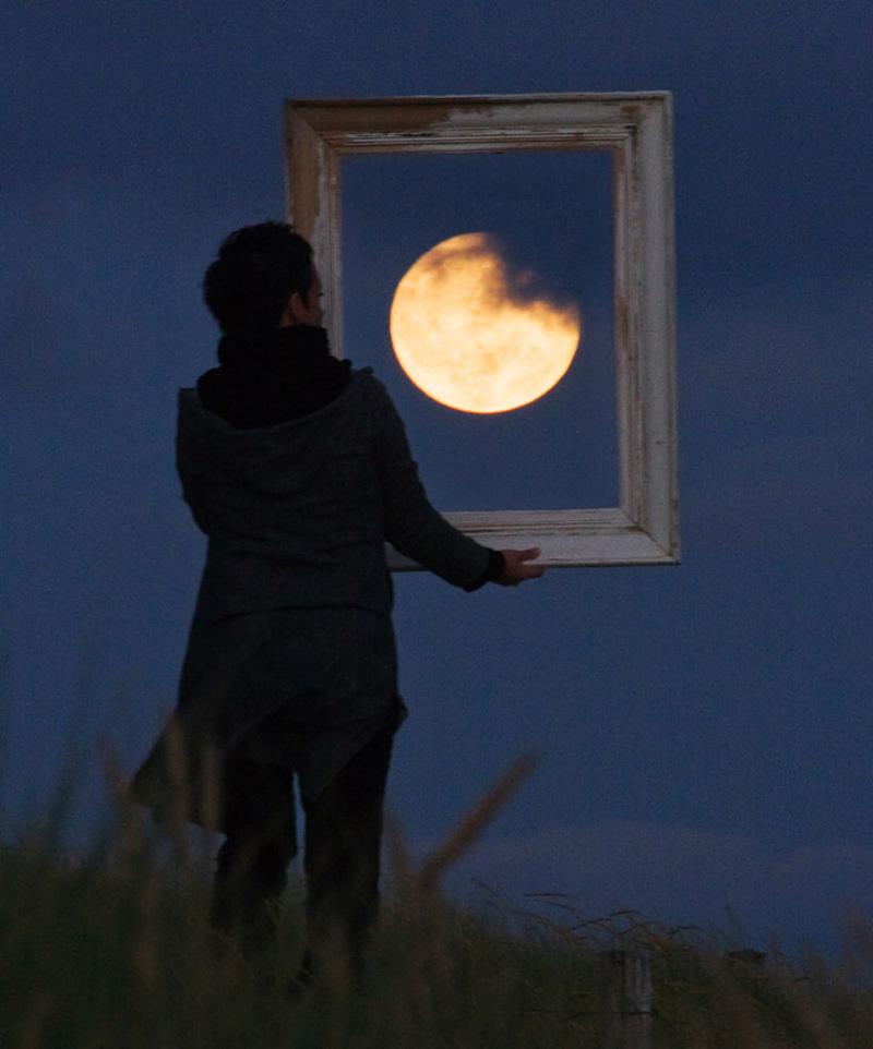 La Pleine Lune encadree