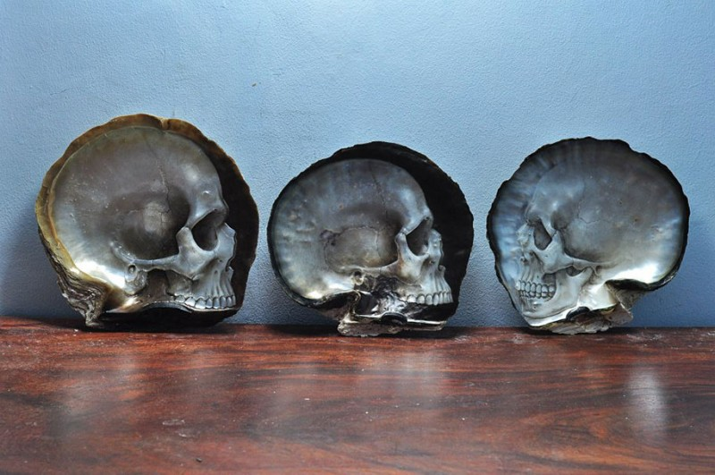 pearl-shell-human-skull-carving
