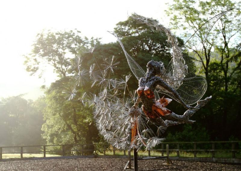 amazing-beautiful-steel-wire-fairy-dandelion-sculptures (11)