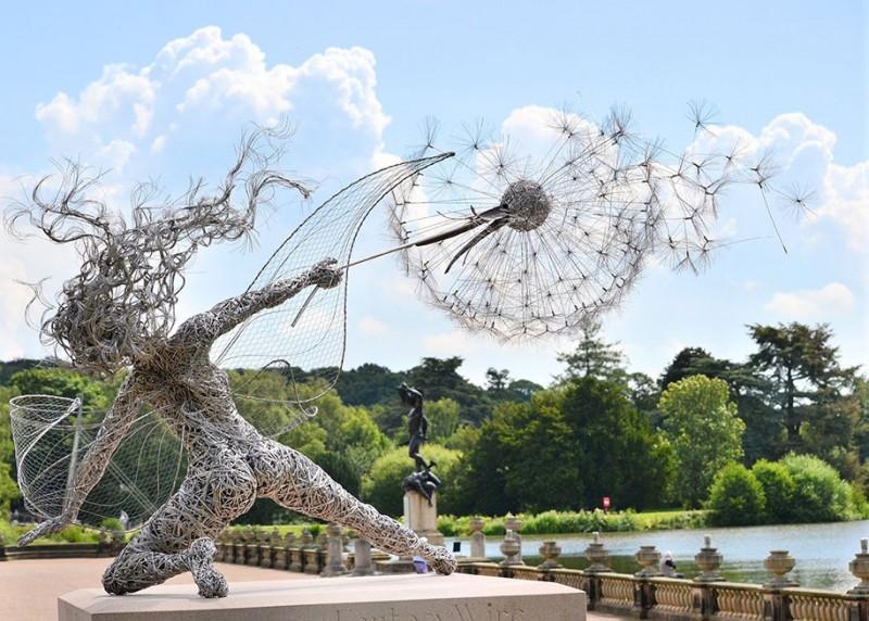 amazing-beautiful-steel-wire-fairy-dandelion-sculptures (6)