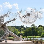 Fantastic fairies made out of stainless steel wires