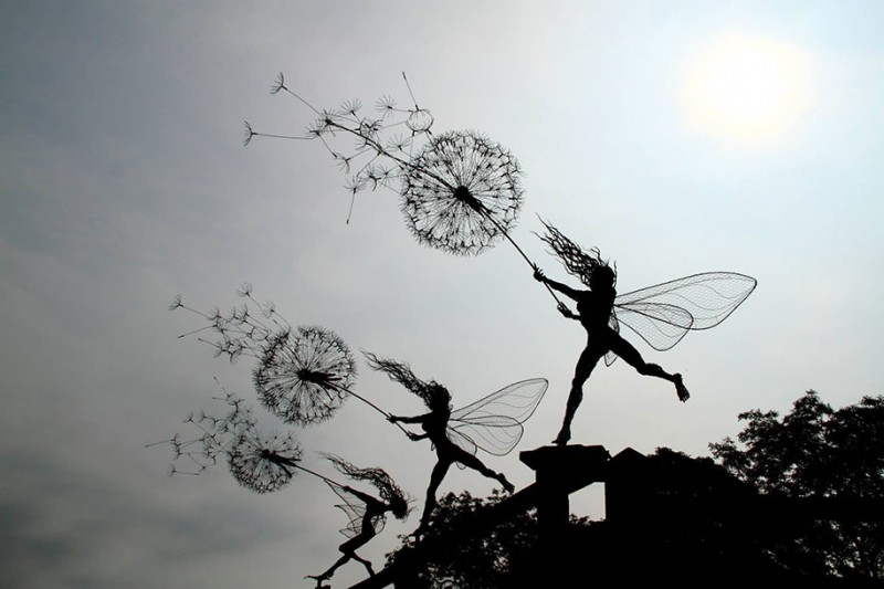 amazing-beautiful-steel-wire-fairy-dandelion-sculptures