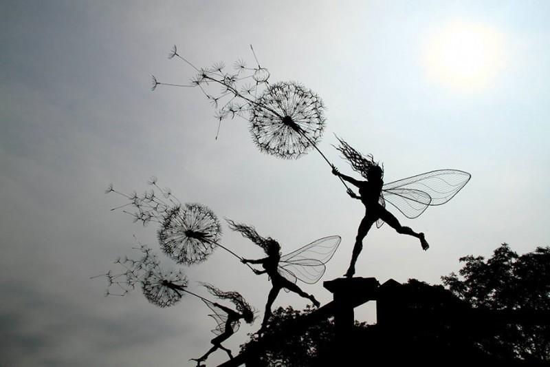 amazing-beautiful-steel-wire-fairy-dandelion-sculptures