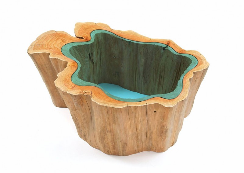unique-furniture-design-wooden-table-glass-river-lake (2)