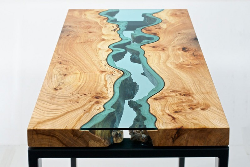 unique-furniture-design-wooden-table-glass-river-lake (5)