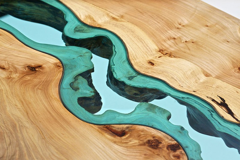 unique-furniture-design-wooden-table-glass-river-lake