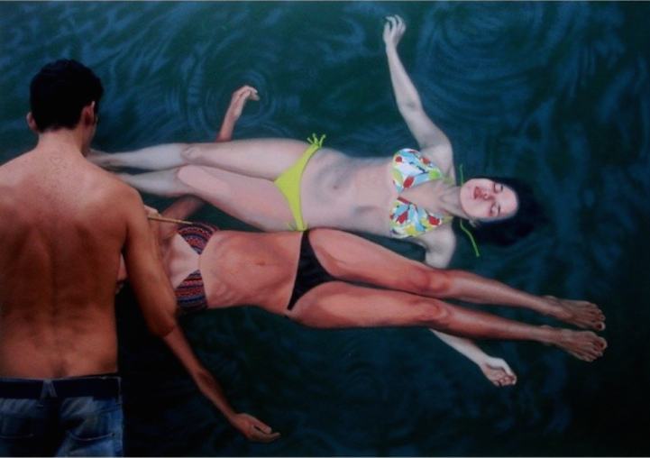 Incredibly-Realistic-Lifelike-Paintings-swimming-people-water (11)