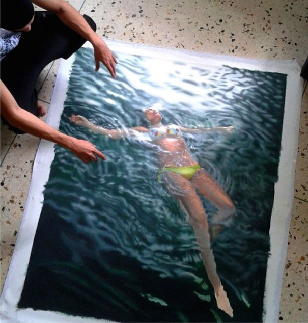 Incredibly-Realistic-Lifelike-Paintings-swimming-people-water (13)