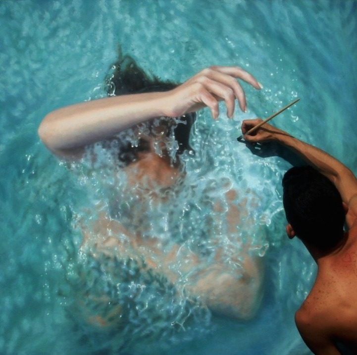 Incredibly-Realistic-Lifelike-Paintings-swimming-people-water (5)