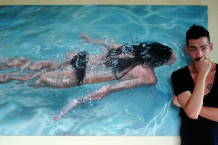 Incredibly-Realistic-Lifelike-Paintings-swimming-people-water (6)