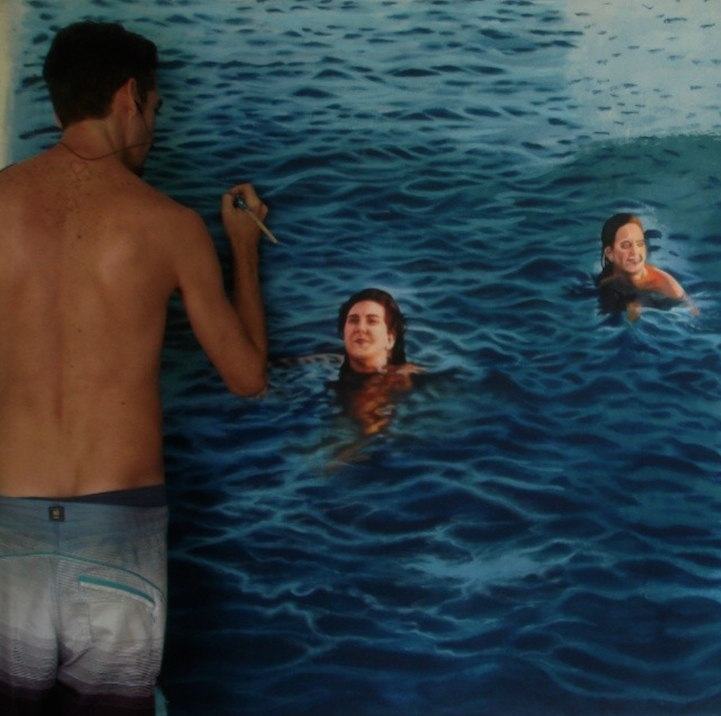 Incredibly-Realistic-Lifelike-Paintings-swimming-people-water (7)
