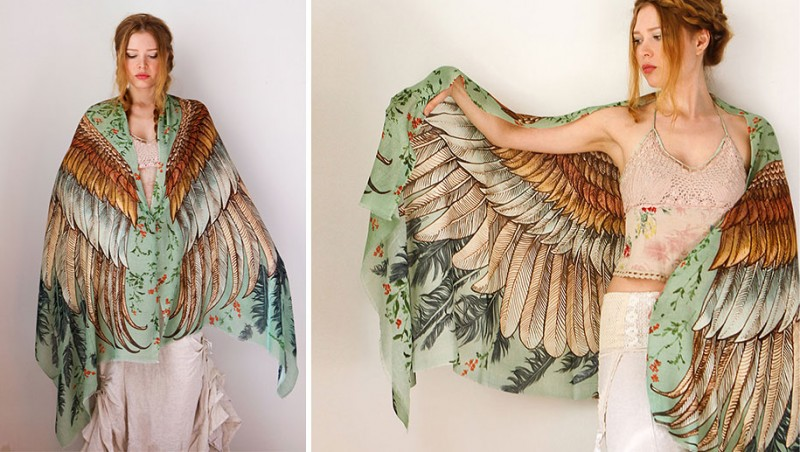 handmade-Stylish-trendy-sexy-unique-women-bird-wing-scarf-design (1)