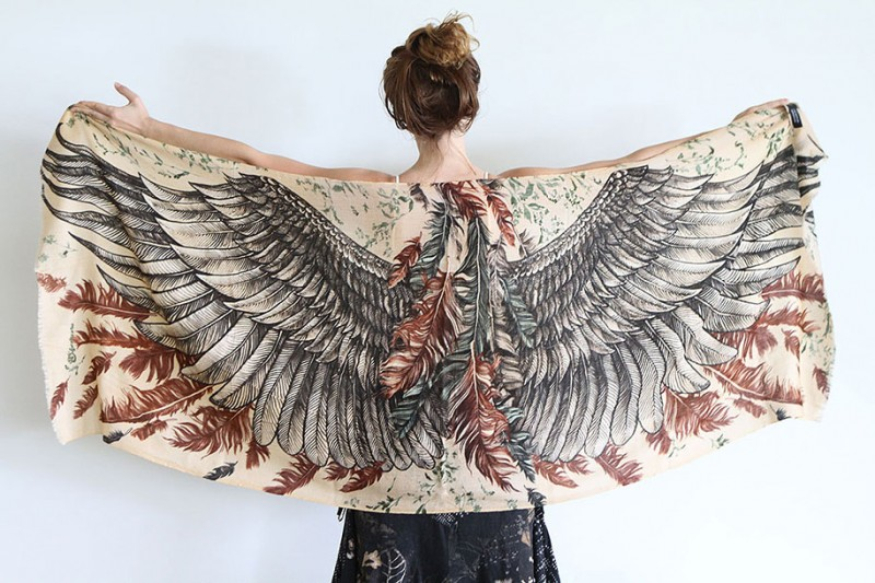 handmade-Stylish-trendy-sexy-unique-women-bird-wing-scarf-design (10)