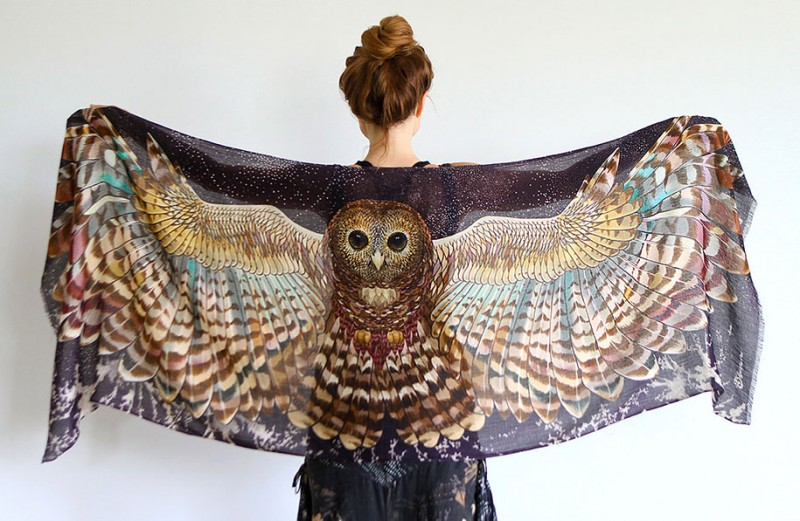 handmade-Stylish-trendy-sexy-unique-women-bird-wing-scarf-design (11)