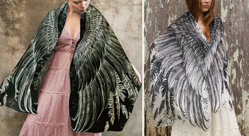 handmade-Stylish-trendy-sexy-unique-women-bird-wing-scarf-design (3)