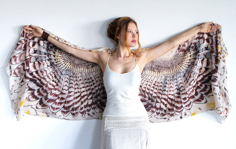 handmade-Stylish-trendy-sexy-unique-women-bird-wing-scarf-design (5)