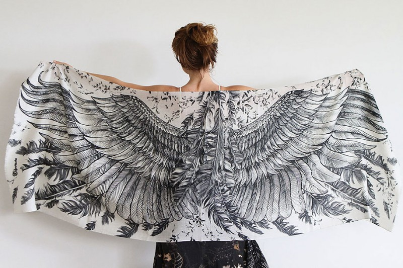handmade-Stylish-trendy-sexy-unique-women-bird-wing-scarf-design (8)