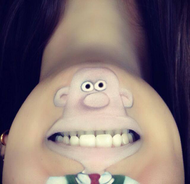 funny-face-paintings-Cartoon-Characters (1)
