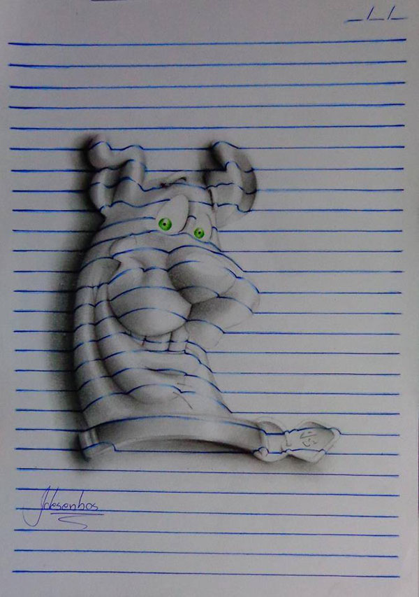 funny-3d-line-drawings-doodles-notepad-art (10)