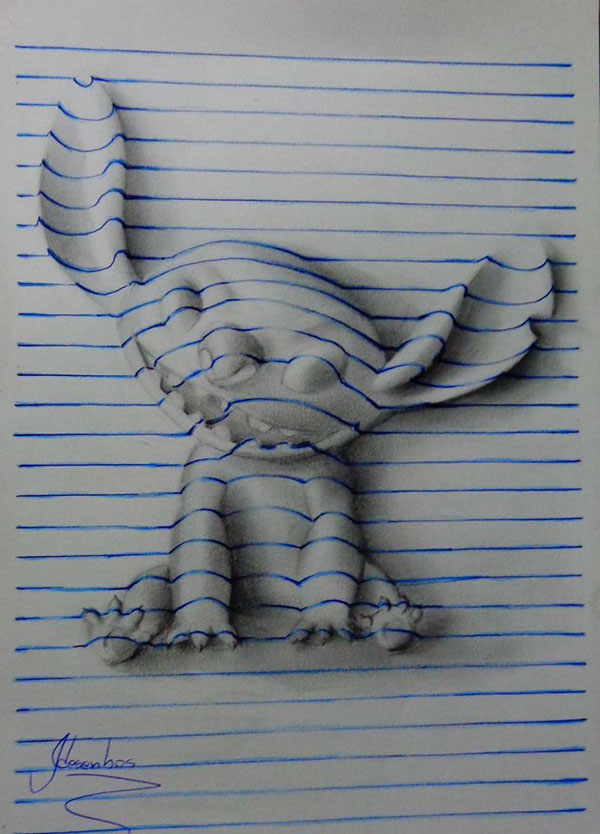 funny-3d-line-drawings-doodles-notepad-art (11)