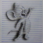 3D notepad drawings