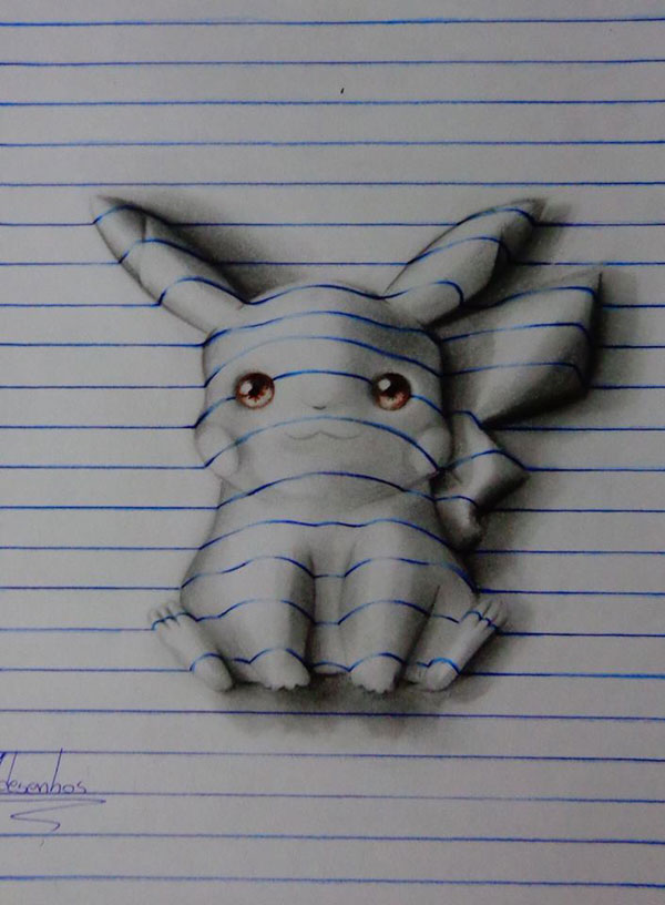 funny-3d-line-drawings-doodles-notepad-art (5)