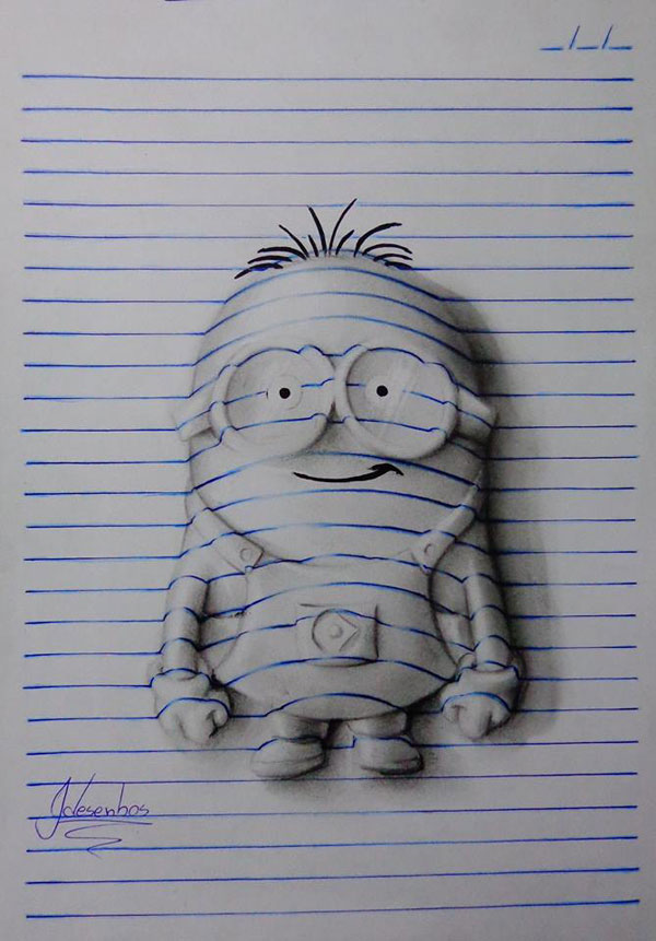 funny-3d-line-drawings-doodles-notepad-art (9)