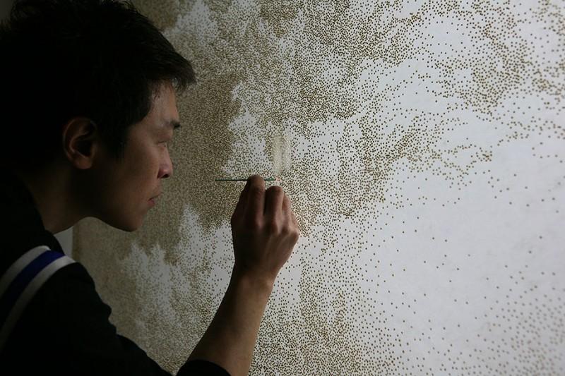 pointillism-incense-sticks-dark-light-paper-art-form (7)