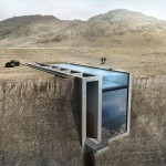 House completely embedded in the cliff that can afford you amazing view of the sea