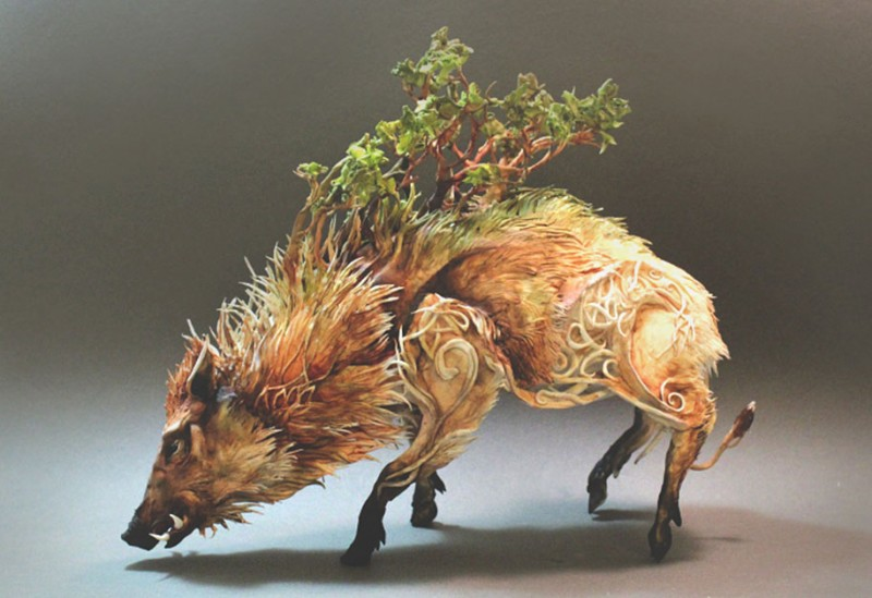 amazing-fantasy-animal-plant-fusion-clay-sculpture (10)