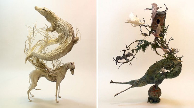 amazing-fantasy-animal-plant-fusion-clay-sculpture (11)