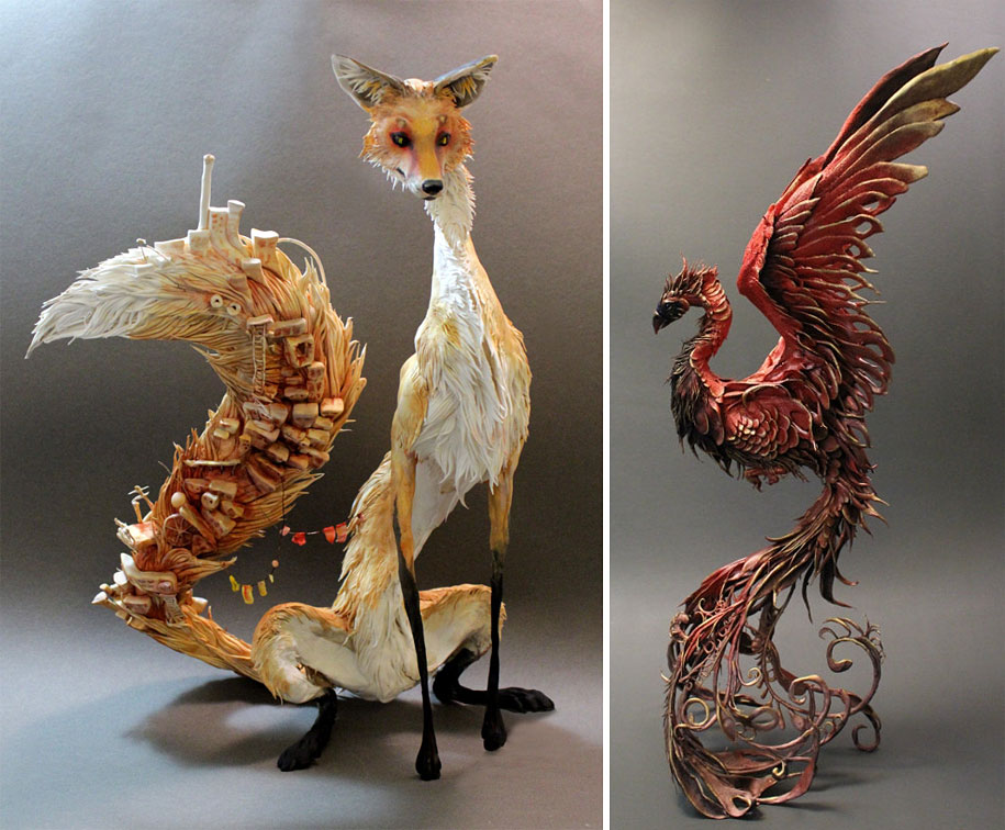Delicately Fantastic Sculptures Merging Animals And Plants
