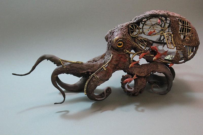 amazing-fantasy-animal-plant-fusion-clay-sculpture (14)