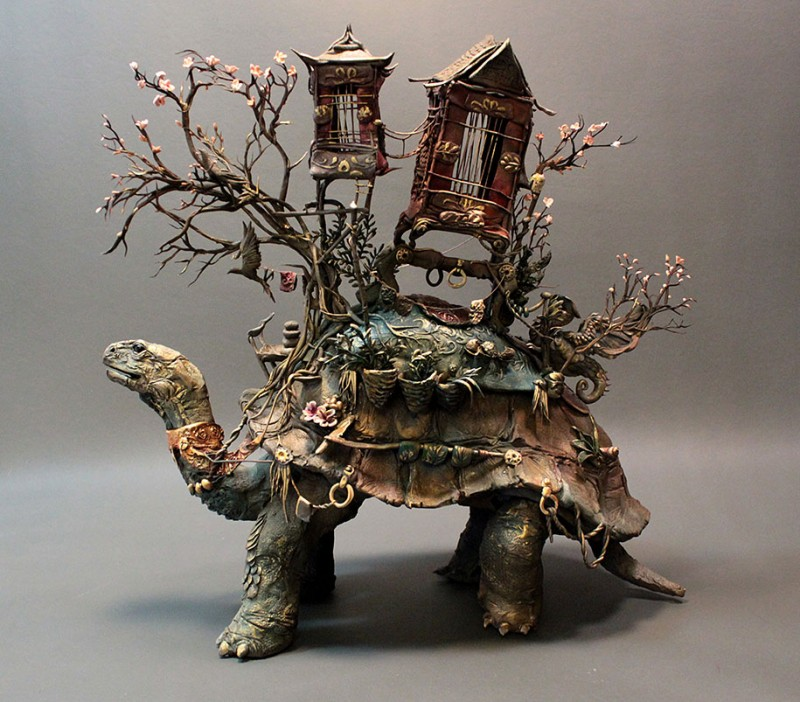 amazing-fantasy-animal-plant-fusion-clay-sculpture (19)