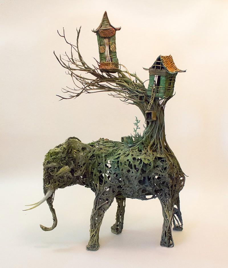 amazing-fantasy-animal-plant-fusion-clay-sculpture (6)